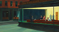 Nighthawks, a painting of a diner, one type of eatery still common in the Mid-Atlantic. Each state of the region has its own signatures, and the range extends from the Canadian border in the North to Delaware Bay in the South.