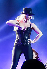 Spears performing the track during her Las Vegas residency show, Britney: Piece of Me.