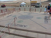 The Four Corners Monument as it looked following the 1992 reconstruction. (Arizonan side)