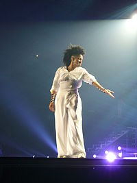 Jackson performing during the 2008 Rock Witchu Tour