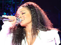 Jackson performing during the 2011 Number Ones, Up Close and Personal tour