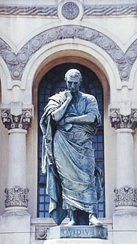 Statue in Constanța, Romania (the ancient colony Tomis), commemorating Ovid's exile