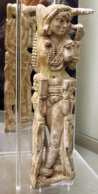 The Pompeii Lakshmi, an ivory statuette from the Indian subcontinent found in the ruins of Pompeii