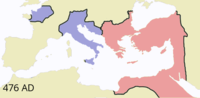 The Roman Empire by 476