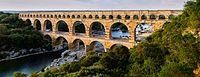 The Pont du Gard aqueduct, which crosses the Gardon River in southern France, is on UNESCO's list of World Heritage Sites.