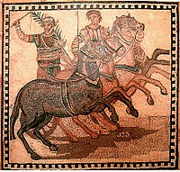A victor in his four-horse chariot