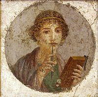 Portrait of a literary woman from Pompeii (ca. 50 AD)