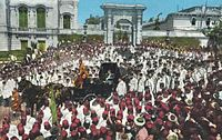 Sultan Abdul Hamid II going to the Friday Prayer (Friday Procession)