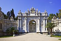 The main entrance of Dolmabahçe Palace that is built in 1862