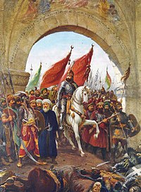 Sultan Mehmed II's entry into Constantinople; painting by Fausto Zonaro (1854–1929)