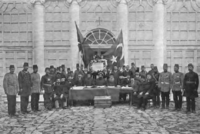 Declaration of the Young Turk Revolution by the leaders of the Ottoman millets in 1908