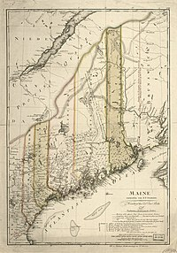 1798 map of Maine