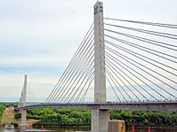 The Penobscot Narrows Bridge, carrying U.S. Route 1 and Maine State Route 3 over the Penobscot River
