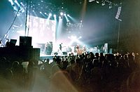Oasis performing in Montreal, Quebec, Canada in 2002