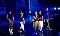 Big Bang performing on their Alive Tour in September 2012