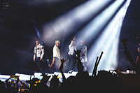 Big Bang performing in Dalian, China during their Made World Tour in 2015