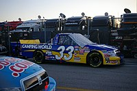 The No. 33 truck sitting on a road in the infield at Daytona in 2008