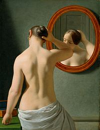 Woman in Front of a Mirror, (1841), by Christoffer Wilhelm Eckersberg
