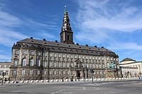 Christiansborg Palace houses the Folketing, the Supreme Court, and government offices.