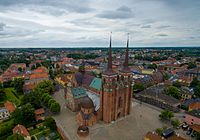 Roskilde Cathedral has been the burial place of Danish royalty since the 15th century. In 1995 it became a World Heritage Site.