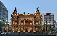 São Paulo Municipal Theater, significant for its architectural value and its historical importance