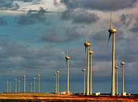 Wind farm in Parnaíba, Piauí. Brazil is one of the 10 largest producers of wind energy in the world