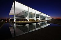 """Palácio do Planalto (""""Plateau Palace""""), the official workplace of the President of Brazil."""