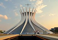 The Cathedral of Brasília, an example of Modern architecture