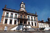 The Museum of the Inconfidência in Minas Gerais, an example of Portuguese colonial architecture