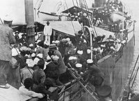 South Asians aboard Komagata Maru in Vancouver, 1914
