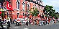 Turkish Canadians at the Victoria Day Parade 2005 in Downtown Victoria