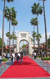 Ceremonial gate to Universal Studios Hollywood (the theme park attached to the studio lot)