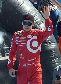 Kyle Larson, seen here at the 2015 Daytona 500, was awarded the first starting spot as a result of qualifying being canceled.