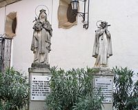 Statues representing John of the Cross and Teresa of Ávila in Beas de Segura