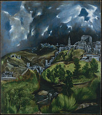 El Greco's landscape of Toledo depicts the priory in which John was held captive, just below the old alcázar (fort) and perched on the banks of the Tajo on high cliffs.