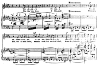An excerpt of a piano-vocal score for César Cui's opera William Ratcliff.