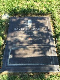 Grave of David Carradine at Forest Lawn Hollywood Hills