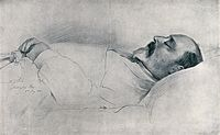 Drawing of Edward on his deathbed in Buckingham Palace by Sir Luke Fildes, 1910