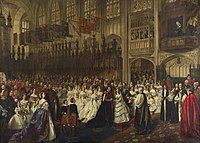 The marriage of the Prince of Wales with Princess Alexandra of Denmark, Windsor, 10 March 1863