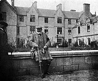 Edward VII relaxing at Balmoral Castle, photographed by his wife, Alexandra
