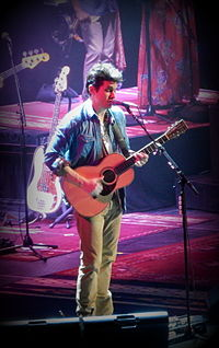 Mayer performing at the Barclays Center in Brooklyn, New York, on December 17, 2013