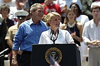 Capito with President George W. Bush in 2004