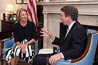Capito meets with Supreme Court nominee Judge Brett Kavanaugh, July 2018