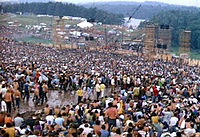 The stage at the Woodstock Festival in 1969