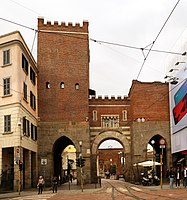 The Medieval Porta Ticinese (1100), is one of the three medieval gates of the city that still exist in the modern Milan.