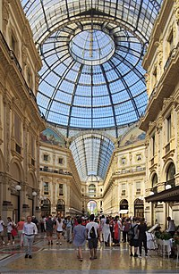 Galleria Vittorio Emanuele II is one of the city's largest shopping centres.