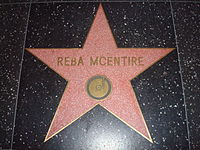 McEntire's star on the Hollywood Walk of Fame