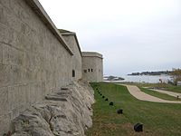 Fort Trumbull facing Long Island Sound