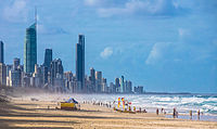 Australia has one of the world's most highly urbanised populations with the majority living in metropolitan cities on the coast, such as Gold Coast, Queensland.