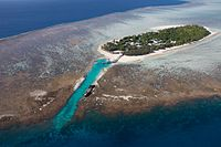 Heron Island, a coral cay in the southern Great Barrier Reef